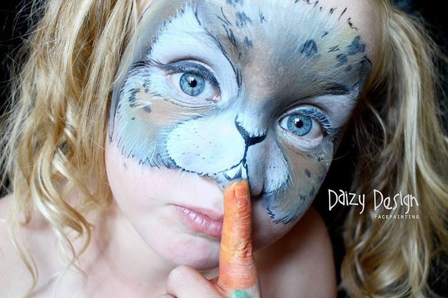 איפור-פנים-כלבלב-לפורים